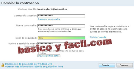 Como cambiar la contraseña del correo Hotmail Cambiar-password-hotmail-3