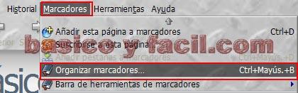 Como exportar e importar marcadores de Firefox Exportar-firefox