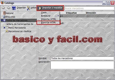 Como exportar e importar marcadores de Firefox Exportar-firefox1