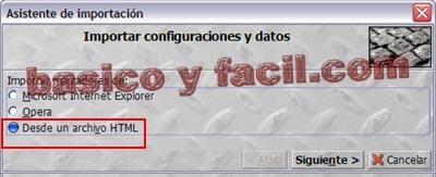 Como exportar e importar marcadores de Firefox Importar-firefox