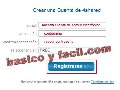 registro en 4shared