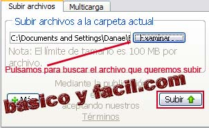 subir archivo a 4shared