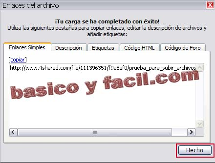 enlace de descarga de 4shared