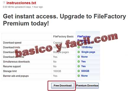 descargar de filefactory