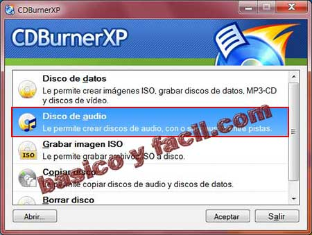crear iso de cd audio