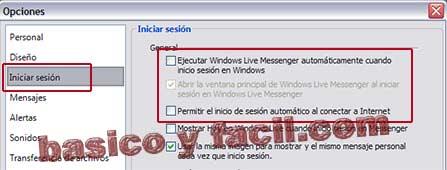 evitar que se inicie windows live messenger al arrancar el ordenador