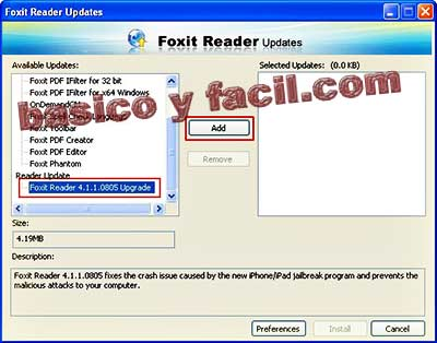 how to add foxit reader as a printer
