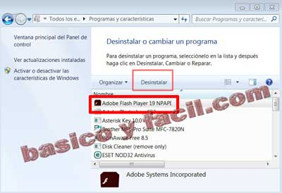 flashplayer-desinstalar